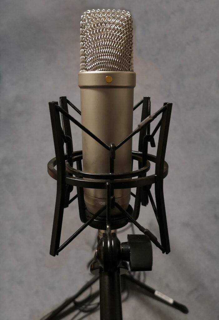 Aufnahmemikrofon zur Aufnahme des Drüberquatschen Podcasts für Audiokommentare